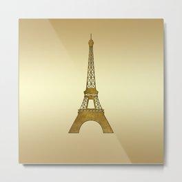 Sweet Memories Eiffel Tower Metal Print