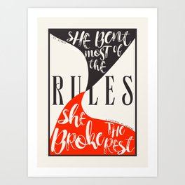Lila Bard Break the Rules Art Print
