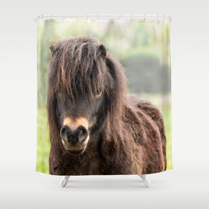 Lucky Pony Shower Curtain