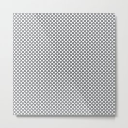 Sharkskin and White Polka Dots Metal Print