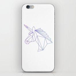 Unicorn Blue-Purple iPhone Skin