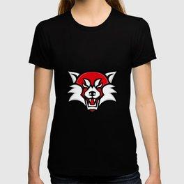 Angry Red Panda Head Mascot T-shirt