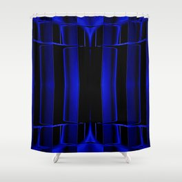 Playing in Blue Shower Curtain
