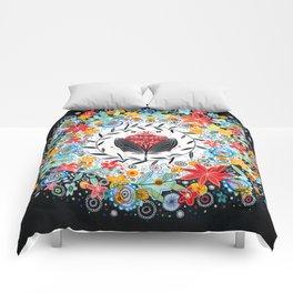 Winter bloom Comforters