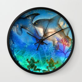 Ancient Memories - Whales Wall Clock