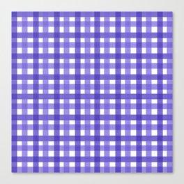 Violet Picnic Cloth Pattern Canvas Print