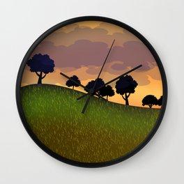 Landscape summer Wall Clock