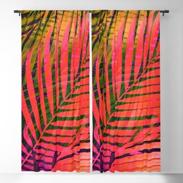 COLORFUL TROPICAL LEAVES 4 Blackout Curtain