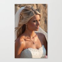 bride Canvas Prints featuring Bride by Rory Trappe