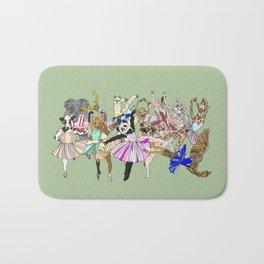 Animal Ballet Hipsters - Green Bath Mat