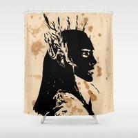 thranduil Shower Curtains featuring Elven king by Panda Cool
