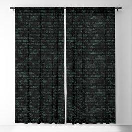 Light Green Dna Data Code Blackout Curtain