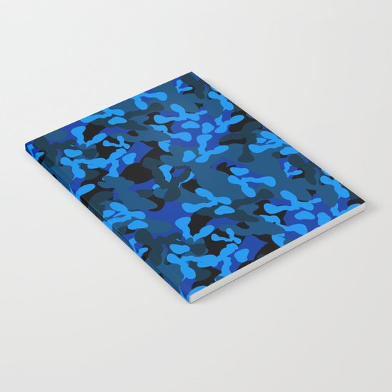 Camouflage (Blue) Notebook