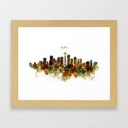 Seattle Watercolor Skyline Poster Framed Art Print
