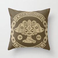 bioshock infinite Throw Pillows featuring Bioshock by Cameron Latham