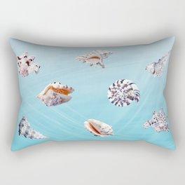 SEASHELL PATTERN summer, turquoise, sea Rectangular Pillow
