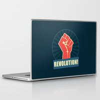 revolution Laptop & iPad Skins featuring REVOLUTION! by Word Quirk