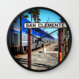 San Clemente Surfliner Wall Clock