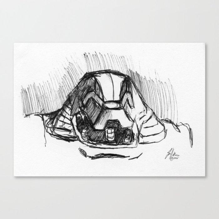 Warbot Sketch #048 Canvas Print