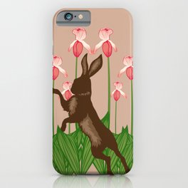 Hare + Lady Slippers iPhone Case