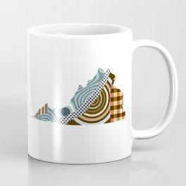 Virginia State Map Coffee Mug