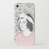 coconutwishes iPhone & iPod Cases featuring H circle floral  by Coconut Wishes