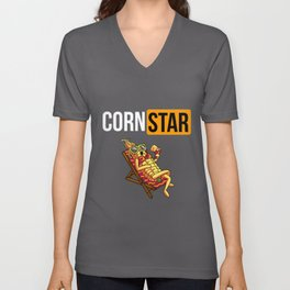 Corn Star Funny Maize Farmer Pornstar   Unisex V-Neck
