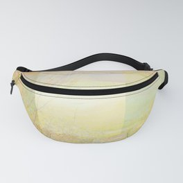 Blossoms Trees Pink Yellow Abstract Fanny Pack