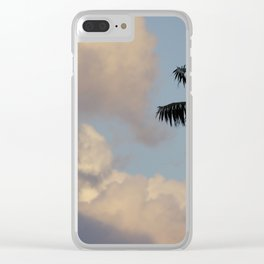 Palm Tree Contrast Clear iPhone Case