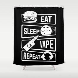 Eat Sleep Vape Repeat - Vaping E-Cigarette Vaper Shower Curtain