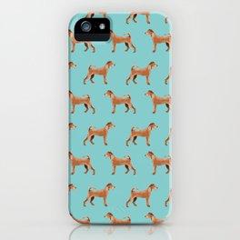 Irish Terrier dog breed pet pattern dog art pet friendly terriers portrait iPhone Case