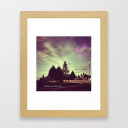 Listen and Hear Framed Art Print