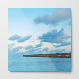 Maldives resort Metal Print
