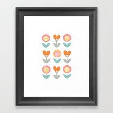 Whimsical flower print Framed Art Print