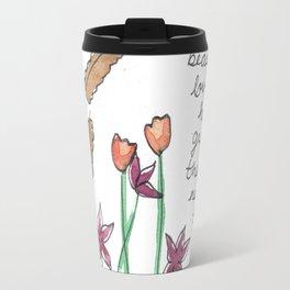 floral poetry Travel Mug