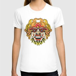 leak bali mask vector chiefs face T-shirt