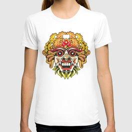 leak bali mask vector chiefs face T-shirt