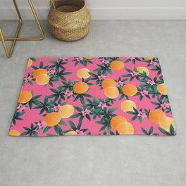 Orange Twist Flower Vibes #1 #tropical #fruit #decor #art #society6 Rug