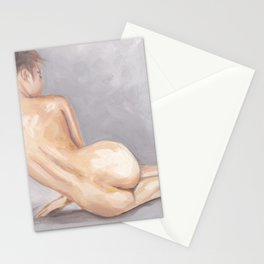 Nude on Floor (from behind) Stationery Cards