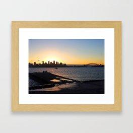 Sydney setting Framed Art Print