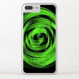 Neon Green Loop Clear iPhone Case