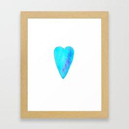 Turquoise Heart Full Of Love Watercolor Framed Art Print