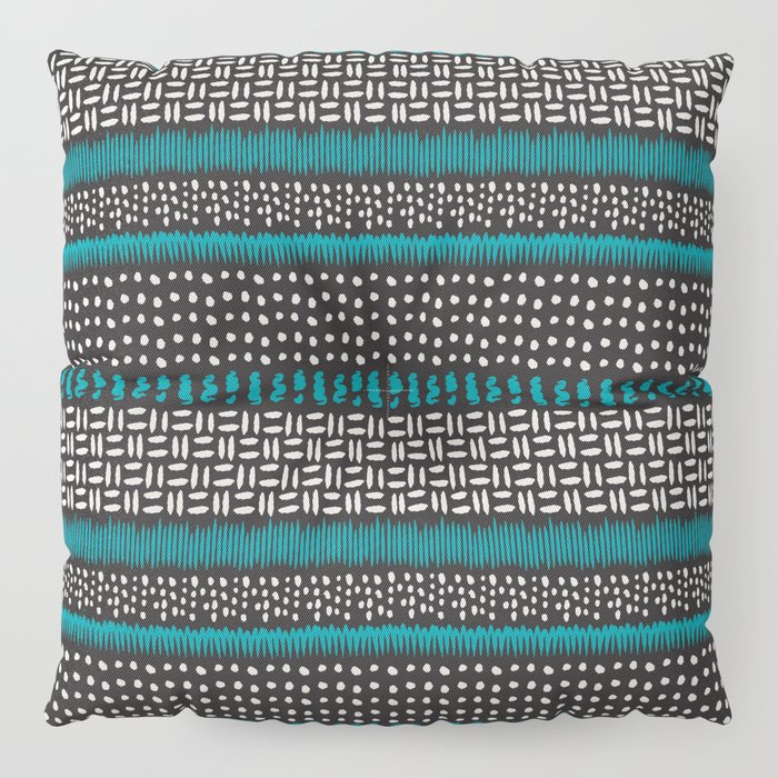 Dots, spots and zigzags pattern Floor Pillow