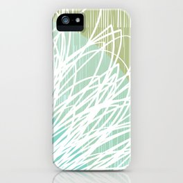 Doodle Flowers in Mint by Friztin iPhone Case