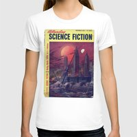 sci fi T-shirts featuring Retro 1951 Sci-Fi by InvaderDig