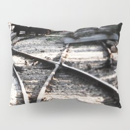 Abandoned Rail Tracks Pillow Sham