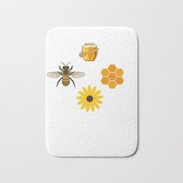 Beekeeper Honey Gift Idea Bee Design Bath Mat