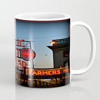 seattle Mugs featuring Seattle by FortuneArt&Photography