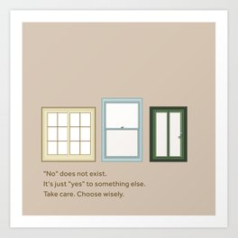 Everything is Yes Art Print