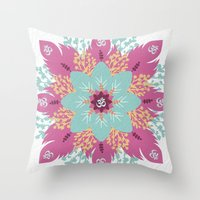 om Throw Pillows featuring Om by zakumy